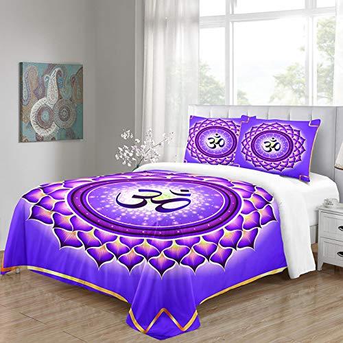 HKDGHTHJ Juego de funda nórdica 3D de 4 piezas Patrón árabe 135 x 200 CM Juego de ropa de cama de estilo simple a la moda de 4 piezas, juego de sábanas de edredón, ropa de cama, textiles para el hoga