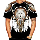 Men 3D Graphic Tees-Novelty Graphic Cool Designs T Shirts for Men (Indians T Shirt 1, X-Large)