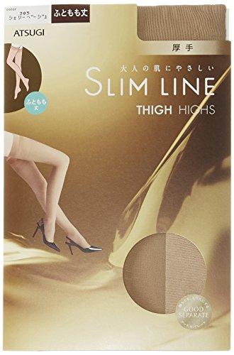 (アツギ)ATSUGI ストッキング SLIM LINE(スリムライン) 厚手 ふともも丈ストッキング 〈3足組〉 FT5050 385 シェリーベージュ 22~25cm