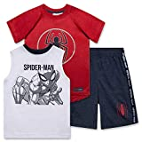 Spiderman Shirt Tank Top & Shorts 3 Piece Set Summer Activewear Bundle Clothes for Boys - Bright White/Size: 5/6