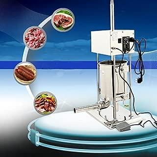 110V New Electric Sausage Stuffer Meat Filler Maker Making Machine Commercial 10L