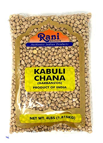 Rani Garbanzo Beans (Kabuli Chana) 4lbs (64oz) ~ All Natural | Vegan | Gluten Free Ingredients | Non-GMO | Indian Origin