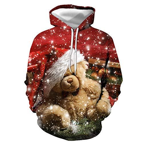 Discountl - Sudadera con capucha para hombre, impresin digital, para bisbol, disfraz de Navidad, 6XL 06. S