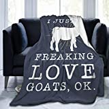 Love Goats Warm Ultra Soft Micro Fleece Couch Travel Chair Throw Blanket for Women Men Gift
