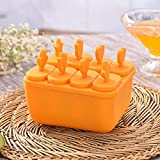 SHIER Bandejas para Hielo 8 Cell Lolly Mould Tray Pan Kitchen Frozen Ice Cube...