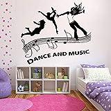 Vinilos decorativos bailando | Niños Decoración del hogar Sala de estar Dormitorio Decoración de ventanas y aula