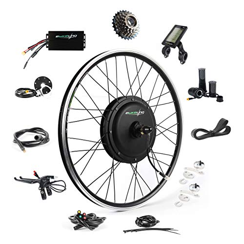 """EBIKELING 48V 1200W 26"""" Direct Drive Rear Waterproof Electric Bicycle Conversion Kit (Rear/LCD/Twist)"""