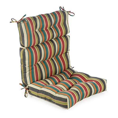 Greendale Home Fashions AZ4809-SUNSET Adobe Stripe 44'' x 22'' Outdoor Seat/Back Chair Cushion