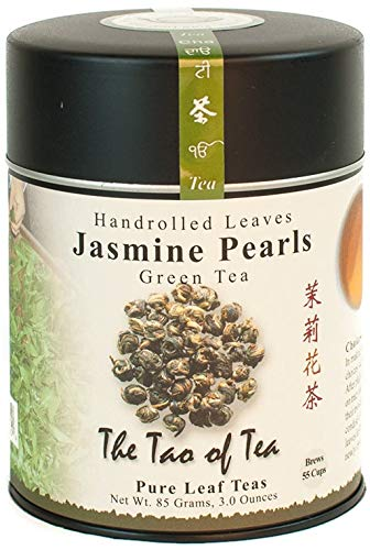 The Tao of Tea, Handrolled Jasmine Pearls Green Tea, Loose Leaf, 3 Ounce Tin