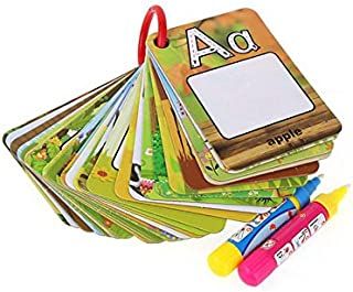 Water Reveal Word Cards Water Drawing Doodle Card Book Paint with Water Reusable No Chemicals No Mess Doodle Pad Word Flas...