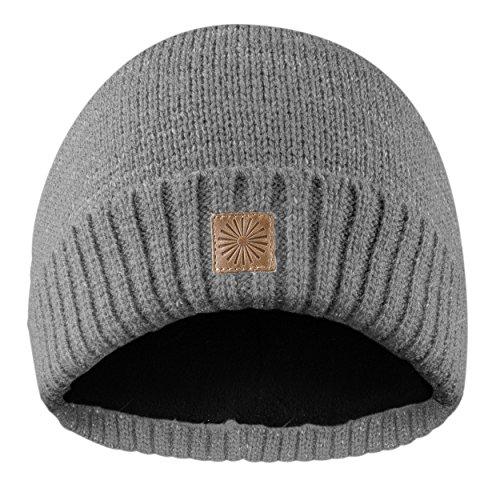 Rubberneck Flash Beanie Mütze reflektierend aus Wolle mit Innenfleece, One Size, Damen und Herren (Grau)