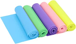KINDOYO Set of 5 Exercise Resistance Bands - Gym Yoga Pilates Stretch Band Elastic Band Different Colors 1500 * 150 * 0.35mm
