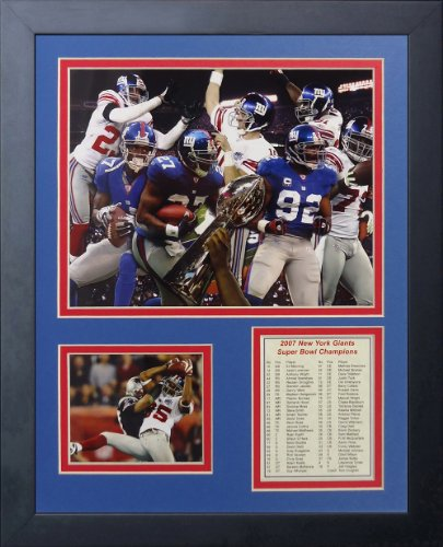 Brandon Jacobs New York Giants NFL Double Matted 8x10 Photograph Super Bowl XLII Rushing