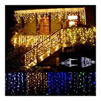 Sognante LED Vorhang Eiszapfen文字列リヒト5メートル96Leds Weihnachten Girlande LEDクリスマスパーティーガルテンBühneイムFreien dekorativeリヒト ルーシー装飾 (Color : Purple)