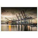 artboxONE Poster 60x40 cm Städte Waltershofer Hafen VI -