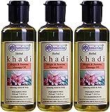 Glamorous Hub Khadi Rishikesh Herbal Mogra & Jasmine Juego combinado de aceite de masaje, paquete de 210 ml x 3 (630 ml) (el embalaje puede variar)