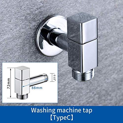 Waterkraan voor buiten, massief messing voor de wasmachine, 1 M2 met 3 MB sokkel, wandmontage Bibcock, A C.
