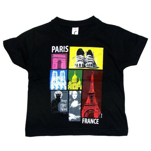 T-Shirt Garçon 'Paris Flash' - Noir (2 Ans)