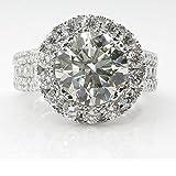 Goddesslili Large Zircon Diamond Rings for Women Girlfriend Simple White Vintage Retro Wedding Engagement Anniversary Luxurious and Elegant Jewelry Gift Under 5 Dollars (10)