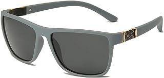 X&L - Gafas de Sol polarizadas Hombres Que conducen Visera para Hombres Gafas de Sol TR90 Hombres piernas de Fibra de Carbono UV400-BS Gris