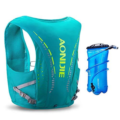 AONIJIE Hydration Pack 10 Set Chaleco Ligero para Correr con cámara de Agua de 2L para Correr, Andar en Bicicleta, Caminar (Verde, L)