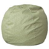 Flash Furniture Small Green Dot Kids Bean Bag Chair