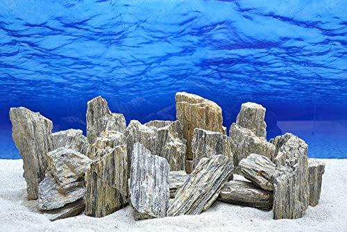 Pro Kiste Aquarium Deko Glimmer Wood Rock grau Glimmer Effekt 0,8-1,2 Kg Nr.46 Pagode Rocks Aquascaping