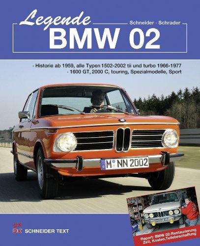 Legende BMW 02: Historie ab 1959, alle Typen 1502 – 2002 tii und turbo 1966–1977 1600 GT, 2000 C, touring, Spezialmodelle, Sport Report: BMW 02-Restaurierung; Zeit, Kosten, Teilebeschaffung