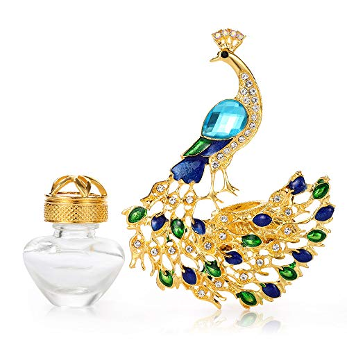 AMind Peacock Car Accessories Car Aromatherapy Essential Oil Diffuser Diamond Locket with Vent Clip and Best Home Decoration Car Decoration Without Oil