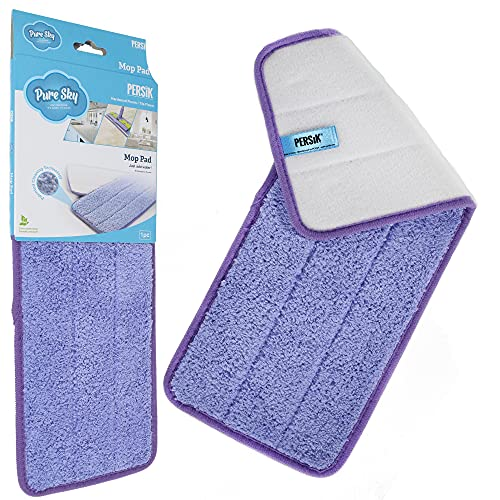Pure-Sky Ultra Microfiber MOP PAD - Stick-Attachable - JUST ADD Water No Detergents Needed – Use for House Floor Such as Hardwood Floors, Tile Floors, Marble Floors, Linoleum Flooring, Kitchen Floor