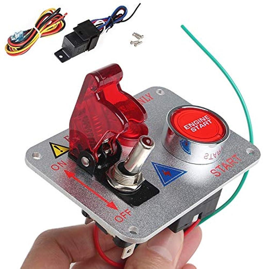 ケーブルカー押し下げる酸化するスイッチパネル 12VレッドLEDレーシングカーのエンジンスタートプッシュボタンイグニッションスイッチパネルトグル Z.L.F.J.P
