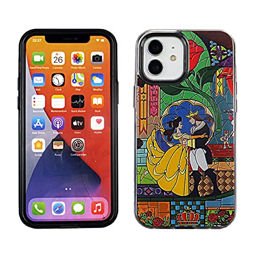 CASETERNITY PC+TPU Case Compatible with iPhone 12 6.1 Inch Slim Fit Cover iPhone 12 Beauty and The Beast Dance