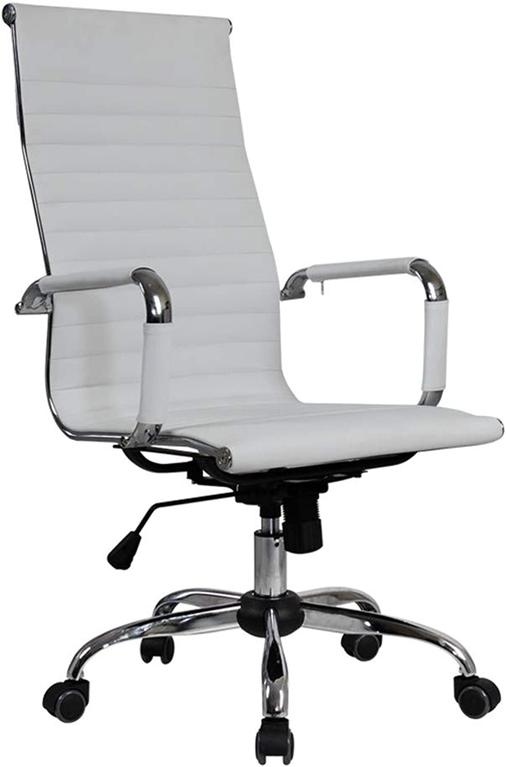Nesee 360 Degree Swivel Office Chair Leather Desk Gaming Chair with Massage Function Adjust Seat Height Bench Bar Chair Home Computer Network Chair (Ship from US) (White)