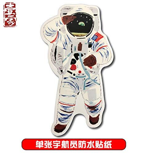 BLOUR creatieve lege ruimte astronaut koffer sticker koelkast gitaar skateboard gitaar decoratie waterdichte sticker