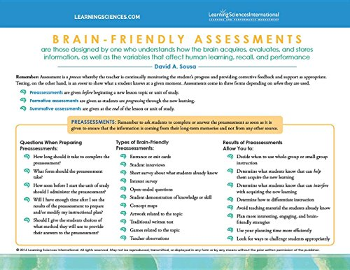 Brain Friendly Assessments Quick Reference Guide