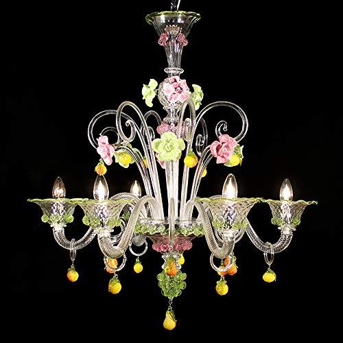 Lámpara Murano Zara – 6 luces – Cristal Diseño