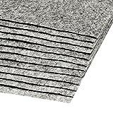 12 Bastelfilz Bögen DIN A4, ca. 2mm, 300g/m² bunter Mix Filz zum Basteln, Farbe:weiß-grau meliert