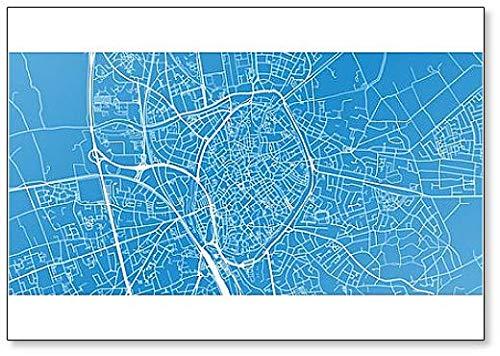 Stadskaart van Brugge, België Koelkast Magneet