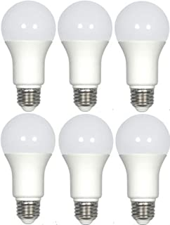 Satco S29837 Solid State LED Light Bulb (Pack of 6), Frosted Finish, 120 Volts, 9.8 Watts, 800 Initial Lumens, A19 Lamp Shape, Medium Base, E26 ANSI Base, 220' Beam Spread, 3500 Kelvin Temp, Dimmable