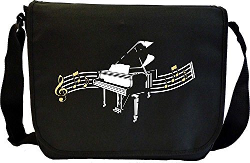 Musicalitee Piano Curved Stave - Sheet Music Document Bag Musik Notentasche
