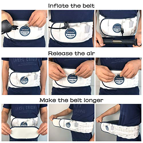 GINEKOO Physical Decompression Back Belt for Lumbar Support and Lower Back Pain Relief, Back support & Lumbar Traction Belt for 29-49 inch Waists