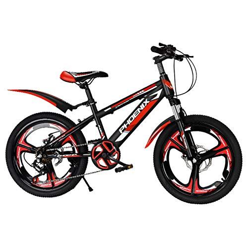 Axdwfd Infantiles Bicicletas Bicicleta al Aire Libre de 18/20 Pulgadas para niños, para 7-14 años, niños y niñas, niños, niñas, Bicicleta de montaña Ajustables. (Color : A, Size : 18in)