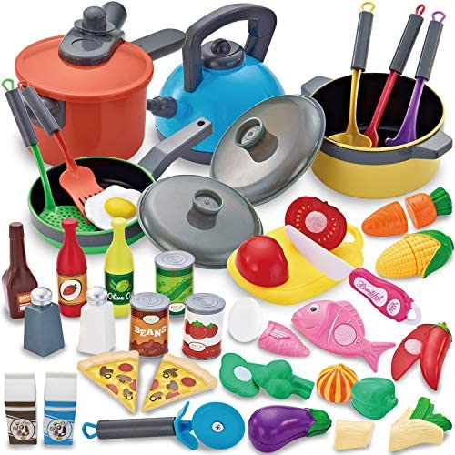 JOYIN 36 Pieces Cooking Pretend Play Toy Kitchen Cookware Playset Including Pots and Pans Play product image