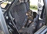 Asiento impermeable Oxford Alquiler de mascotas perro cubierta del vehículo del asiento trasero de la estera del protector Para automóviles, camiones y SUV (Color : Black)