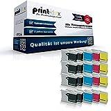 20x Print-Klex XL Tintenpatronen kompatibel für Brother DCP 130C DCP 330C DCP 330CN DCP 350C DCP 350CJ DCP 353C DCP 357C DCP 525C DCP 525CJ DCP 530CJ DCP 535C DCP 535CN - 8X Black, 4X Cyan, 4X Magent