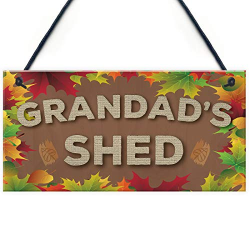 Home Decorative 'Grandad's Shed Man Cave Workshop Garden Hanging Plaque