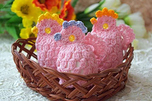 Ostern häkeln Ei wärmer Hühner Dekoration