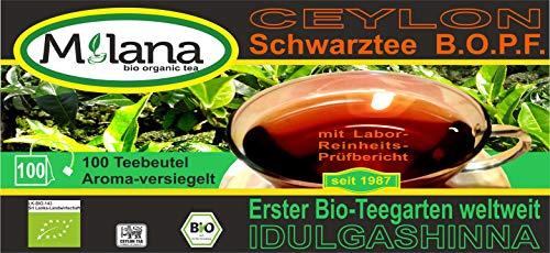 100 Milana CEYLON Premium BIO-SCHWARZTEE Beutel BOPF - Teebeutel, schwarzer Tee, 55 Prozent des Verkaufspreises ist SOZIALE HILFSLEISTUNG - Der Tee, ... der nach Liebe schmeckt...