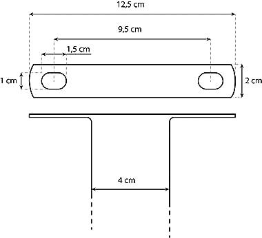 Barre centrale pour le soutien des fonds pour lit coffre avec fixation (162 cm)