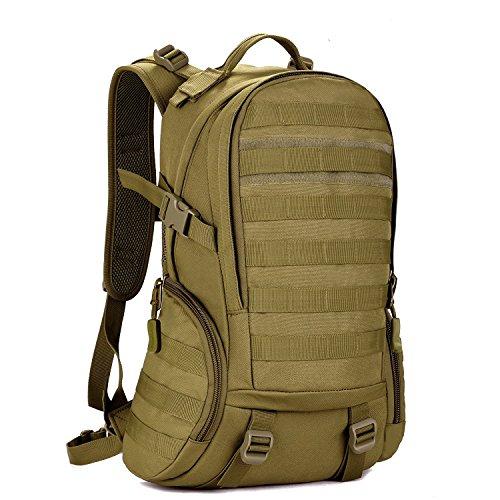 Zaino Unisex 35L Tattico Militare Studente Zaino Outdoor Spor Backpack per Viaggio Escursionismo Campeggio Alpinismo,Marrone Scuro